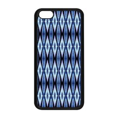 Blue White Diamond Pattern  Apple Iphone 5c Seamless Case (black) by Costasonlineshop