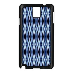 Blue White Diamond Pattern  Samsung Galaxy Note 3 N9005 Case (black) by Costasonlineshop
