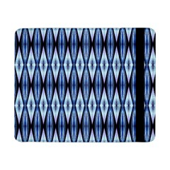 Blue White Diamond Pattern  Samsung Galaxy Tab Pro 8 4  Flip Case by Costasonlineshop