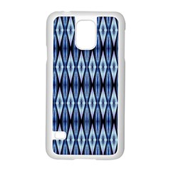 Blue White Diamond Pattern  Samsung Galaxy S5 Case (white) by Costasonlineshop