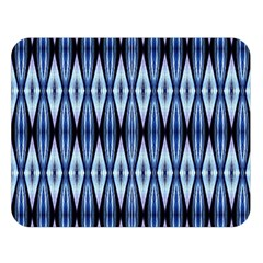 Blue White Diamond Pattern  Double Sided Flano Blanket (large)  by Costasonlineshop