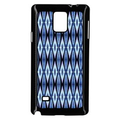 Blue White Diamond Pattern  Samsung Galaxy Note 4 Case (black) by Costasonlineshop