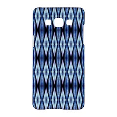 Blue White Diamond Pattern  Samsung Galaxy A5 Hardshell Case  by Costasonlineshop