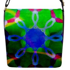 Mandala Image Flap Messenger Bag (s) by sirhowardlee