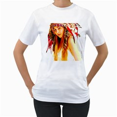 Indian 26 Women s T Shirt (white) (two Sided)