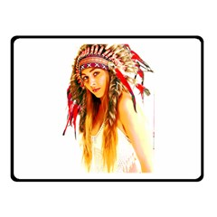 Indian 26 Double Sided Fleece Blanket (small)  by indianwarrior