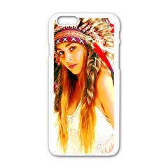Indian 26 Apple Iphone 6/6s White Enamel Case by indianwarrior