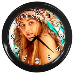 Indian 27 Wall Clocks (black) by indianwarrior