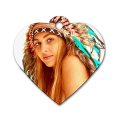 Indian 27 Dog Tag Heart (two Sides) by indianwarrior
