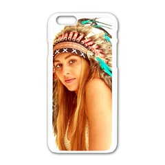Indian 27 Apple Iphone 6/6s White Enamel Case by indianwarrior