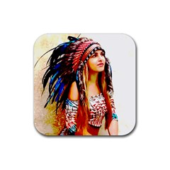 Indian 22 Rubber Coaster (square)  by indianwarrior