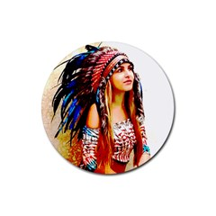 Indian 22 Rubber Round Coaster (4 Pack)