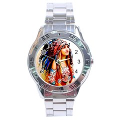 Indian 22 Stainless Steel Analogue Watch by indianwarrior