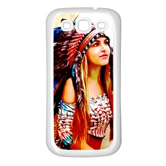 Indian 22 Samsung Galaxy S3 Back Case (white) by indianwarrior