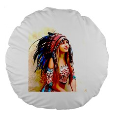 Indian 22 Large 18  Premium Round Cushions by indianwarrior
