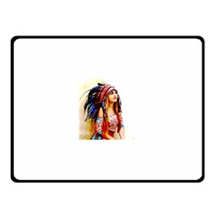 Indian 22 Double Sided Fleece Blanket (small)  by indianwarrior