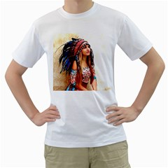 Indian 21 Men s T Shirt (white) (two Sided) by indianwarrior