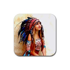 Indian 21 Rubber Square Coaster (4 Pack)  by indianwarrior