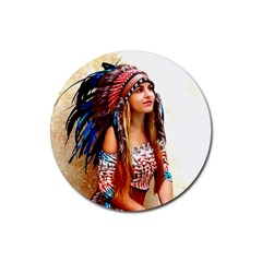 Indian 21 Rubber Coaster (round)  by indianwarrior