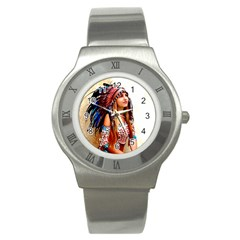 Indian 21 Stainless Steel Watch by indianwarrior