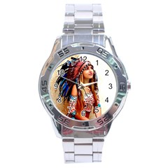 Indian 21 Stainless Steel Analogue Watch by indianwarrior