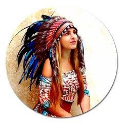 Indian 21 Magnet 5  (round) by indianwarrior