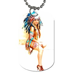 Indian 18 Dog Tag (one Side) by indianwarrior