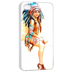 Indian 18 Apple Iphone 4/4s Seamless Case (white) by indianwarrior