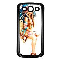 Indian 18 Samsung Galaxy S3 Back Case (black) by indianwarrior