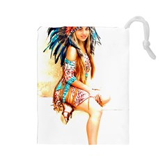 Indian 18 Drawstring Pouches (large)  by indianwarrior