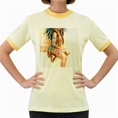 Indian 17 Women s Fitted Ringer T-shirts by indianwarrior