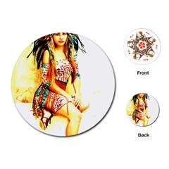 Indian 16 Playing Cards (round)  by indianwarrior