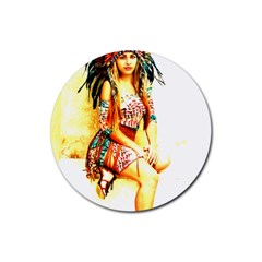 Indian 16 Rubber Coaster (round)  by indianwarrior