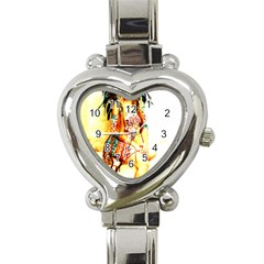 Indian 16 Heart Italian Charm Watch by indianwarrior
