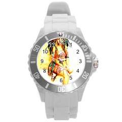 Indian 16 Round Plastic Sport Watch (l) by indianwarrior