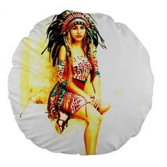 Indian 16 Large 18  Premium Flano Round Cushions by indianwarrior