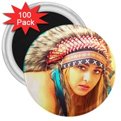 Indian 14 3  Magnets (100 Pack) by indianwarrior