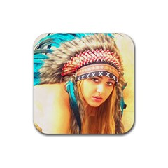 Indian 14 Rubber Coaster (square)  by indianwarrior