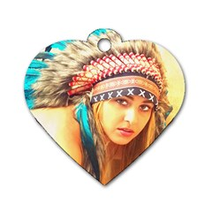 Indian 14 Dog Tag Heart (two Sides)