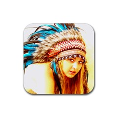 Indian 12 Rubber Coaster (square)  by indianwarrior