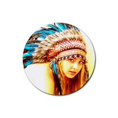 Indian 12 Rubber Coaster (round)  by indianwarrior