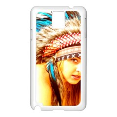 Indian 12 Samsung Galaxy Note 3 N9005 Case (white) by indianwarrior