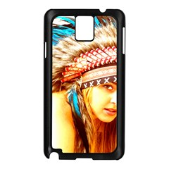 Indian 12 Samsung Galaxy Note 3 N9005 Case (black) by indianwarrior