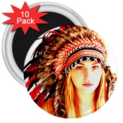 Indian 3 3  Magnets (10 Pack)  by indianwarrior