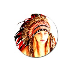 Indian 3 Magnet 3  (round) by indianwarrior