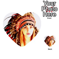 Indian 3 Multi Purpose Cards (heart)  by indianwarrior
