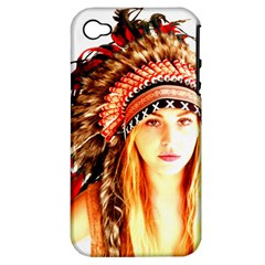 Indian 3 Apple Iphone 4/4s Hardshell Case (pc+silicone) by indianwarrior