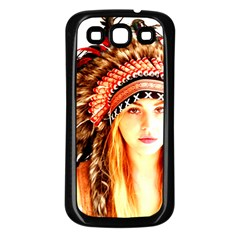 Indian 3 Samsung Galaxy S3 Back Case (black) by indianwarrior