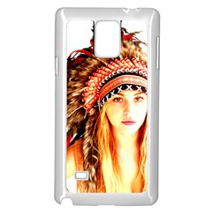Indian 3 Samsung Galaxy Note 4 Case (white) by indianwarrior