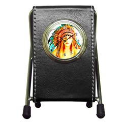 Indian 29 Pen Holder Desk Clocks by indianwarrior